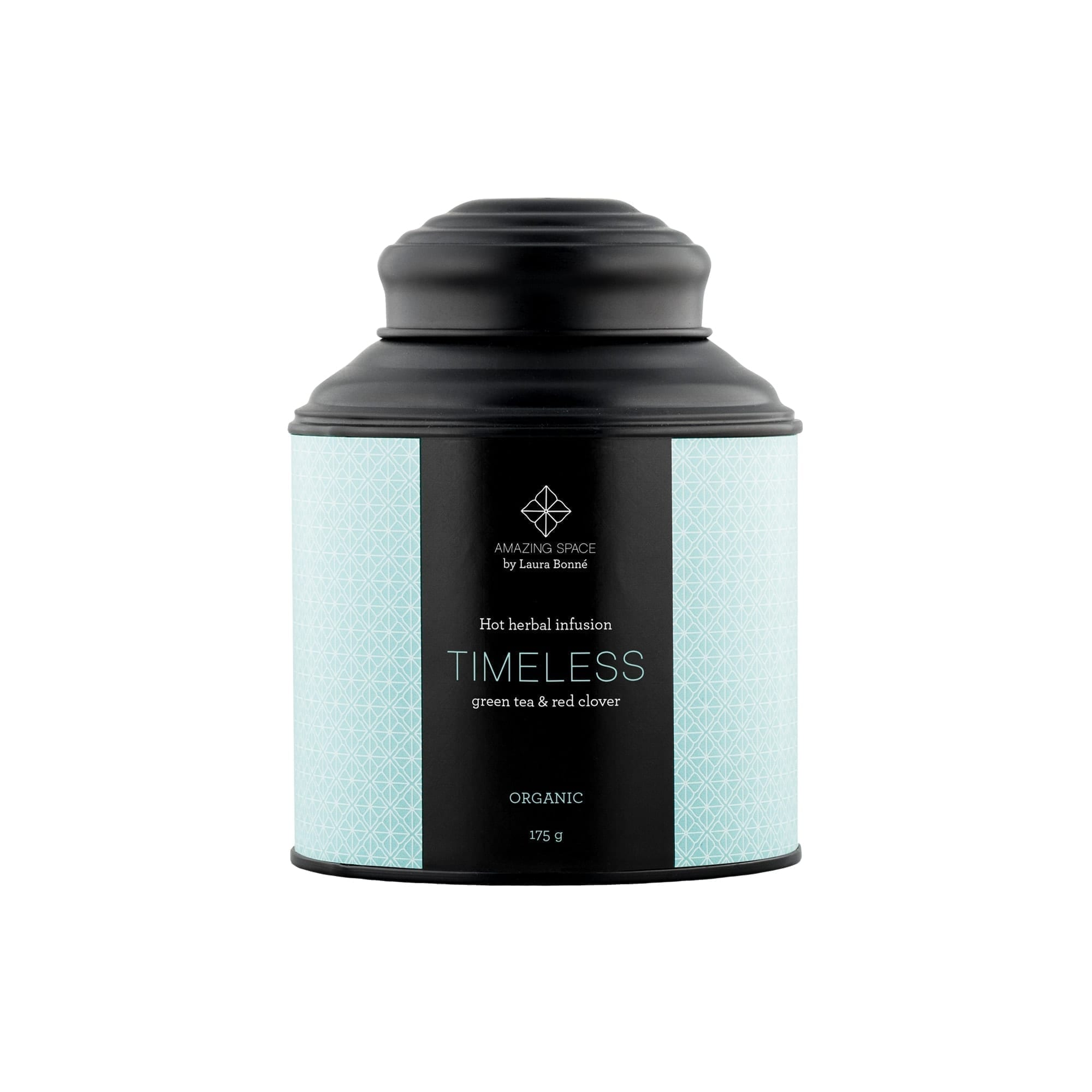 Timeless Tea – Green Tea & Red Clover – Hot Herbal Infusion - Amazing Space
