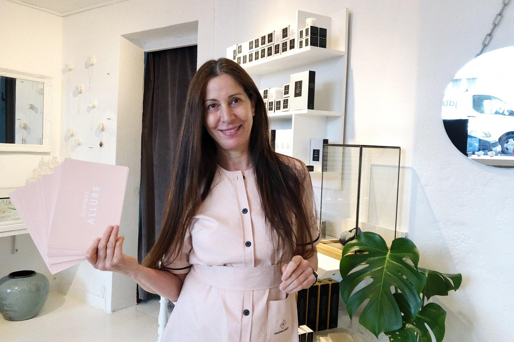 Fatima Bouloum ejer af skønhedsklinikken Allure Copenhagen på Vesterbro