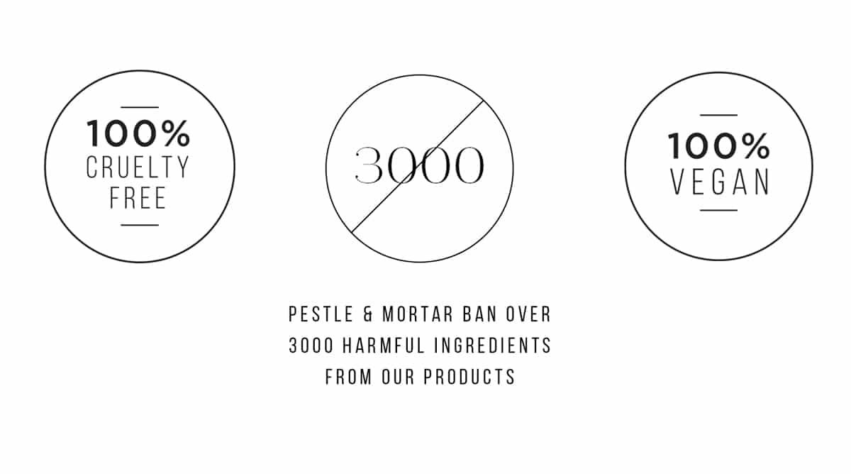 Pestle & Mortar udelukker 3000 skadefulde ingredienser fra deres produkter
