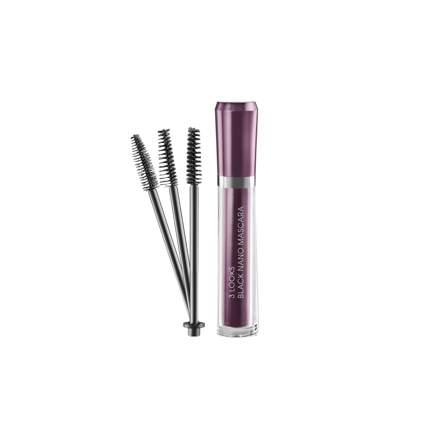 M2 Beauté - 3 LOOKS Black Nano Mascara 6 ml